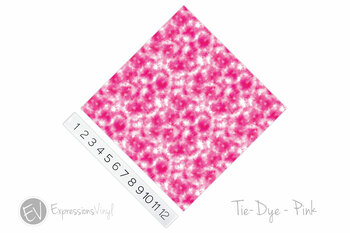 "12""x12"" Permanent Patterned Vinyl - Tie Dye - Pink"
