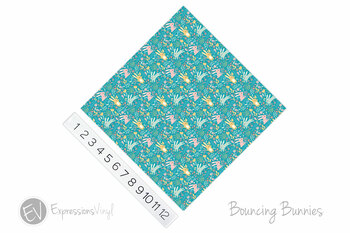 "12""x12"" Patterned Heat Transfer Vinyl - Bouncing Bunnies"