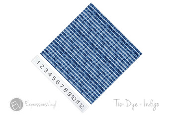 "12""x12"" Patterned Heat Transfer Vinyl - Tie Dye - Indigo"