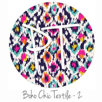 "12""x12"" Patterned Heat Transfer Vinyl - Boho Chic Textile - 2"