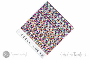 "12""x12"" Patterned Heat Transfer Vinyl - Boho Chic Textile - 2"