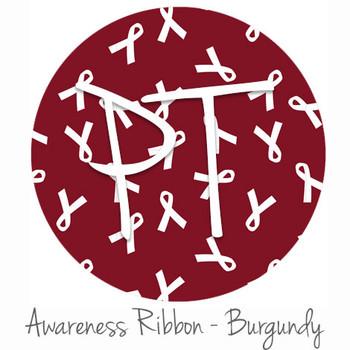 "12""x12"" Patterned Heat Transfer Vinyl - Awareness Ribbon - Burgundy"