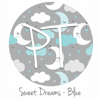 "12""x12"" Patterned Heat Transfer Vinyl -Sweet Dreams - Blue"