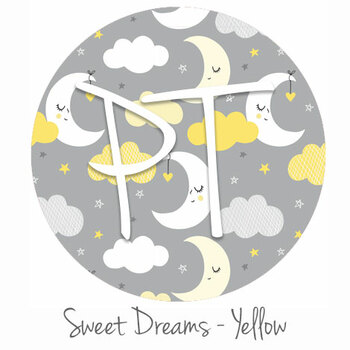 "12""x12"" Patterned Heat Transfer Vinyl -Sweet Dreams - Yellow"