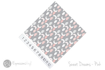 "12""x12"" Patterned Heat Transfer Vinyl -Sweet Dreams - Pink"