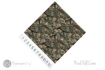 "12""x12"" Patterned Heat Transfer Vinyl - Real Fall Camo"