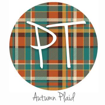 """12""""x12"""" Permanent Patterned Vinyl - Autumn Plaid"""