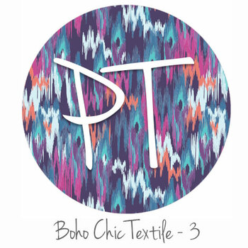 "12""x12"" Permanent Patterned Vinyl - Boho Chic Textile - 3"