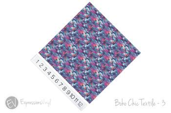 """12""""x12"""" Permanent Patterned Vinyl - Boho Chic Textile - 3"""
