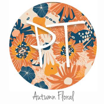 """12""""x12"""" Permanent Patterned Vinyl - Autumn Floral"""