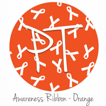 "12""x12"" Permanent Patterned Vinyl - Awareness Ribbon - Orange"