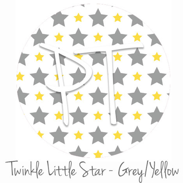 """12""""x12"""" Permanent Patterned Vinyl - Twinkly Little Star - Grey/Yellow"""