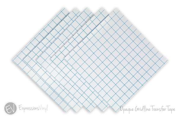 Gridlined Clear Transfer Tape Sheet