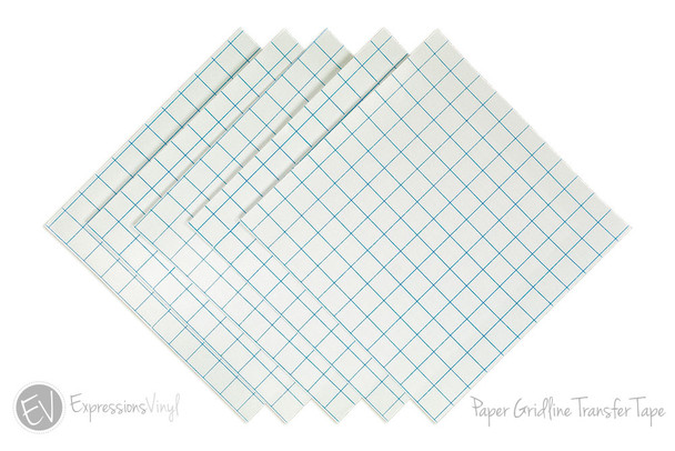 "Paper Gridlined Transfer Tape 12""x12"" Sheet"
