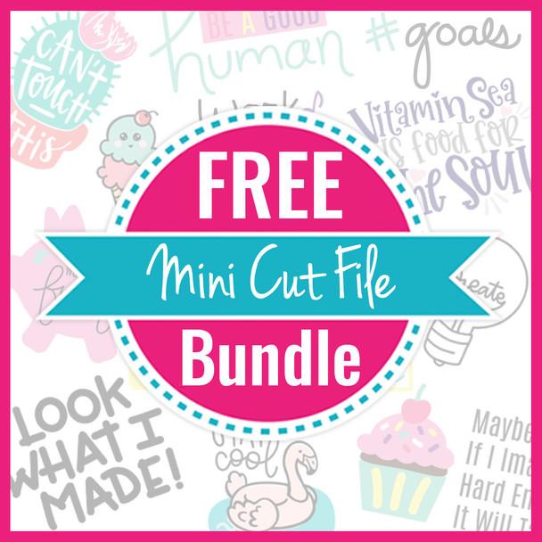 Free Mini Cut File Bundle #3 - April