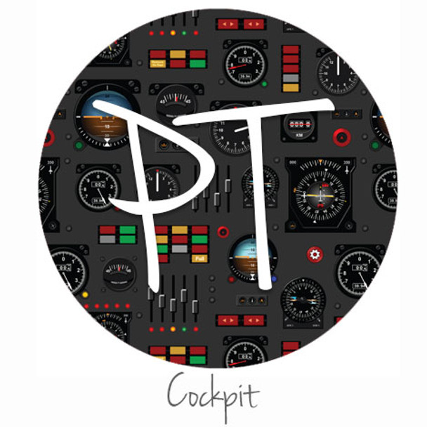 """12""""x12"""" Permanent Patterned Vinyl - Cockpit"""