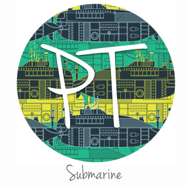 "12""x12"" Permanent Patterned Vinyl - Submarine"