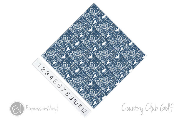 "12""x12"" Patterned Heat Transfer Vinyl - Country Club Golf"