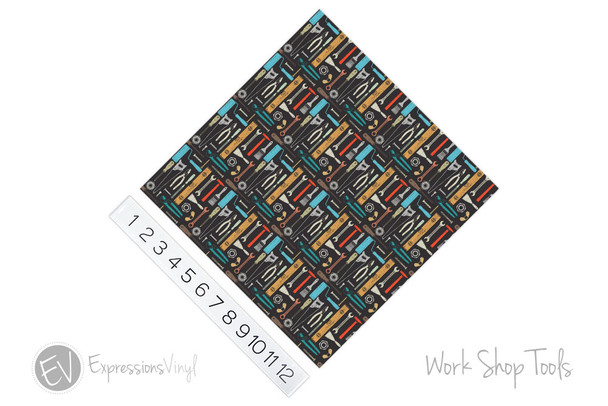 "12""x12"" Patterned Heat Transfer Vinyl - Workshop Tools"