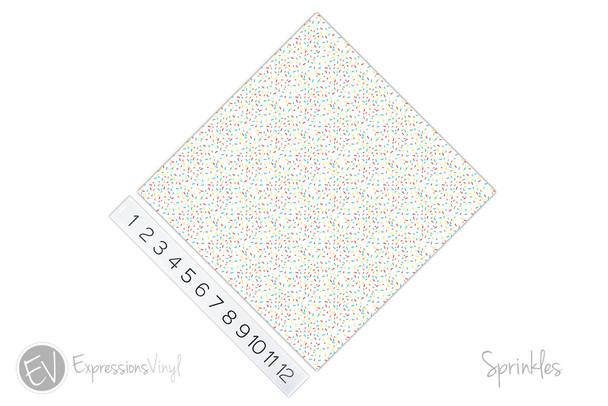 "12""x12"" Patterned Heat Transfer Vinyl - Sprinkles"