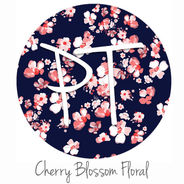 "12""x12"" Patterned Heat Transfer Vinyl - Cherry Blossom Floral"