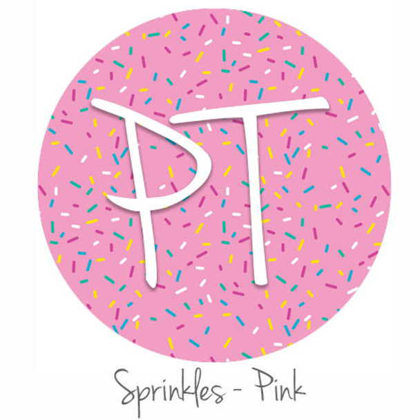 "12""x12"" Permanent Patterned Vinyl - Sprinkles-Pink"