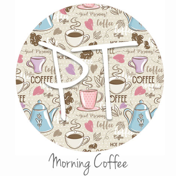 "12""x12"" Permanent Patterned Vinyl - Morning Coffee"