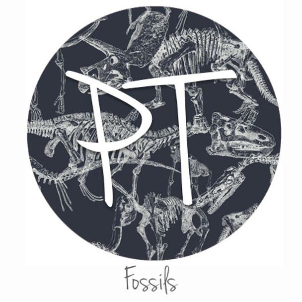 "12""x12"" Permanent Patterned Vinyl - Fossils"