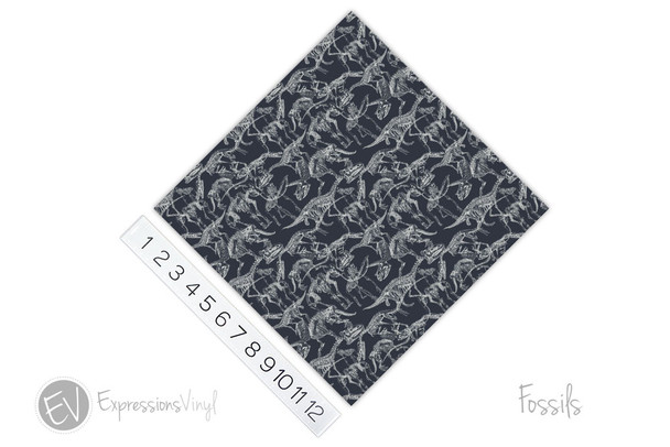 "12""x12"" Patterned Heat Transfer Vinyl - Fossils"
