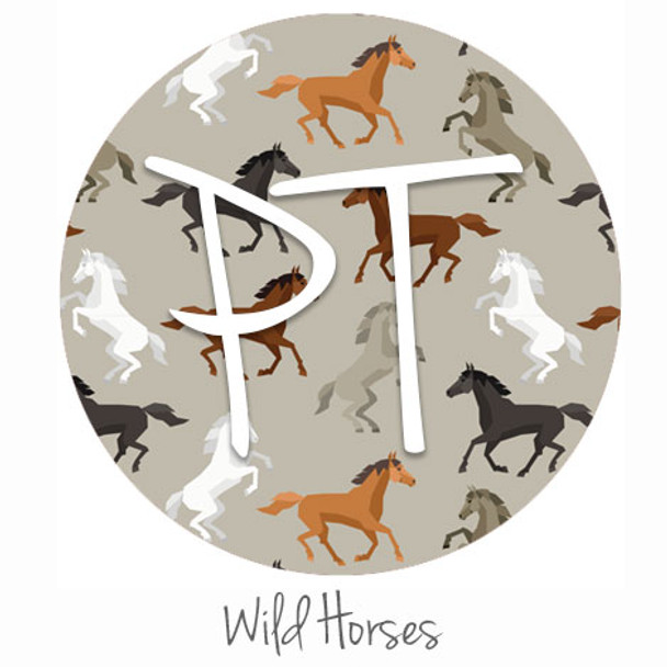 "12""x12"" Patterned Heat Transfer Vinyl - Wild Horses"