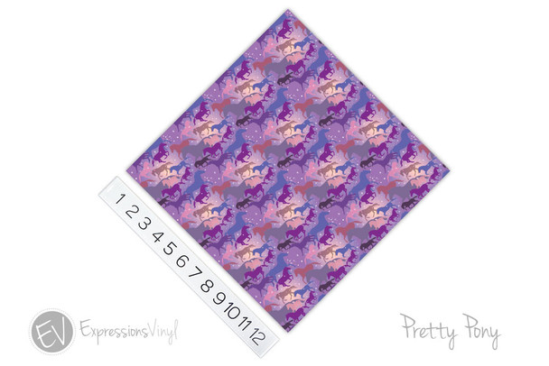 "12""x12"" Patterned Heat Transfer Vinyl - Pretty Pony"