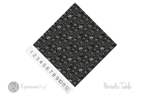 "12""x12"" Patterned Heat Transfer Vinyl - Periodic Table"