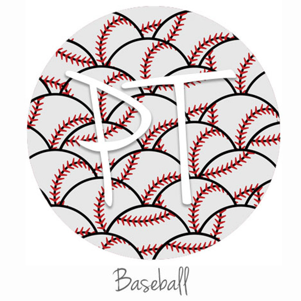 "12""x12"" Patterned Heat Transfer Vinyl - Baseball"