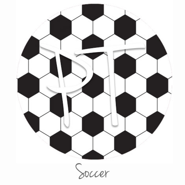 "12""x12"" Patterned Heat Transfer Vinyl - Soccer"