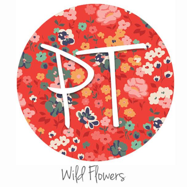 """12""""x12"""" Patterned Heat Transfer Vinyl - Wild Flowers"""