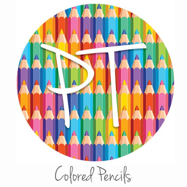 "12""x12"" Permanent Patterned Vinyl - Colored Pencils"