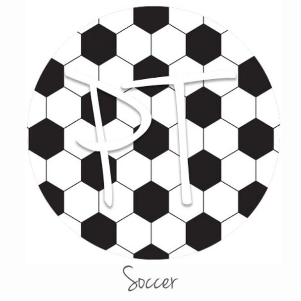 "12""x12"" Permanent Patterned Vinyl - Soccer"