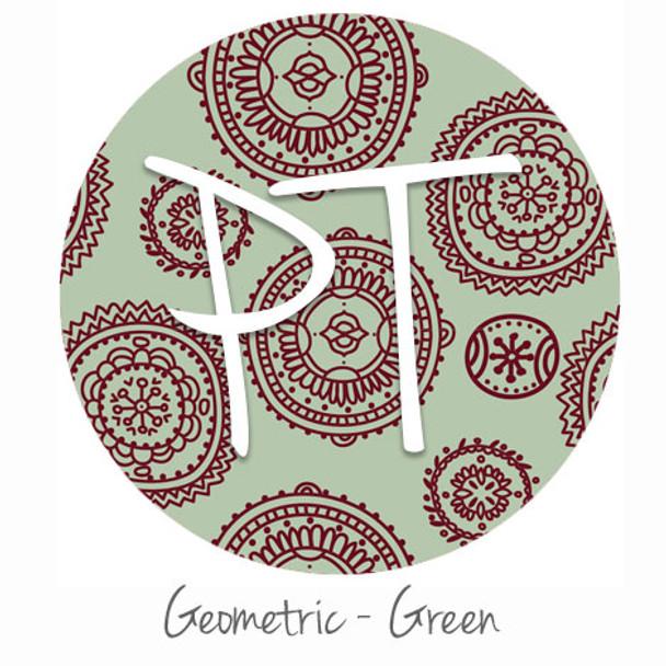 "12""x12"" Patterned Heat Transfer Vinyl - Geometric - Green"
