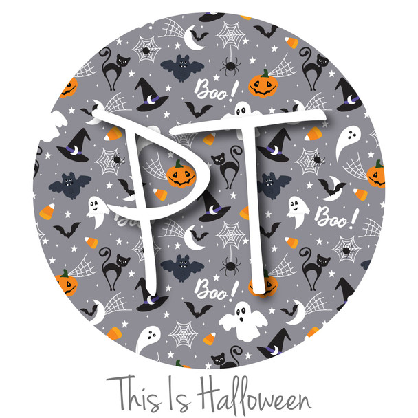 """12""""x12"""" Patterned Heat Transfer Vinyl - This Is Halloween"""