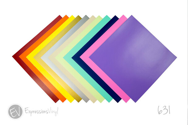Expressions Vinyl Oracal 631 12 X 12 Removable Indoor Vinyl Sheet