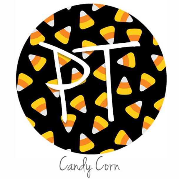 "12""x12"" Patterned Heat Transfer Vinyl - Candy Corns"