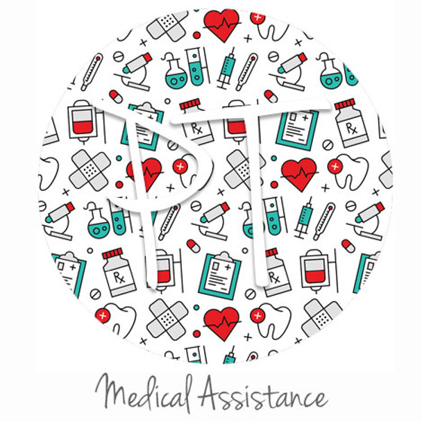 "12""x12"" Patterned Heat Transfer Vinyl - Medical Assistance"