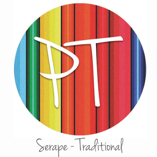 "12""x12"" Permanent Patterned Vinyl - Serape Blanket - Traditional"