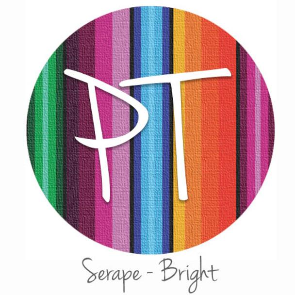 "12""x12"" Permanent Patterned Vinyl - Serape Blanket - Bright"