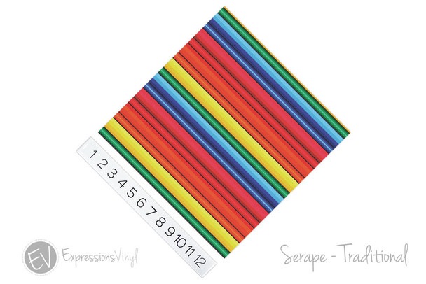 "12""x12"" Patterned Heat Transfer Vinyl - Serape Blanket - Traditional"