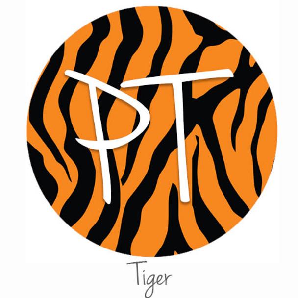 """12""""x12"""" Patterned Heat Transfer Vinyl - Tiger"""