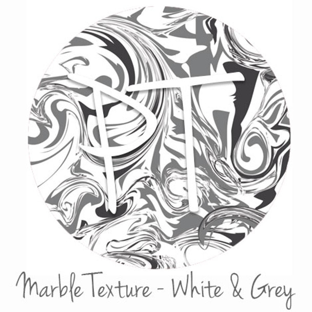 "12""x12"" Patterned Heat Transfer Vinyl - Marble Texture - White & Grey"