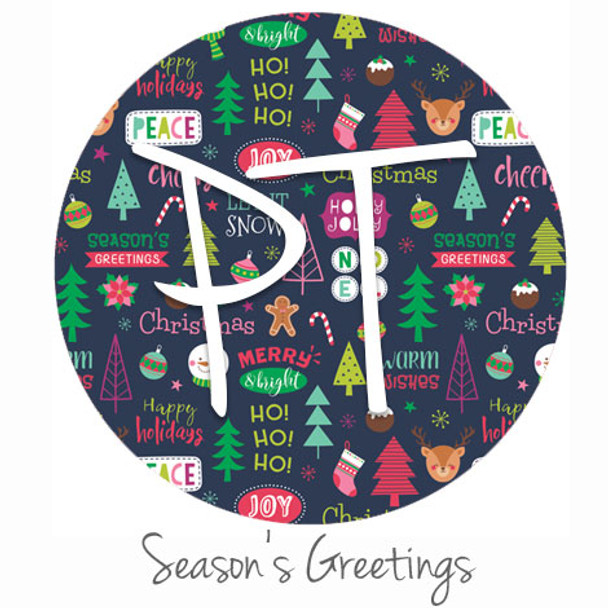 "12""x12"" Permanent Patterned Vinyl - Season's Greetings"