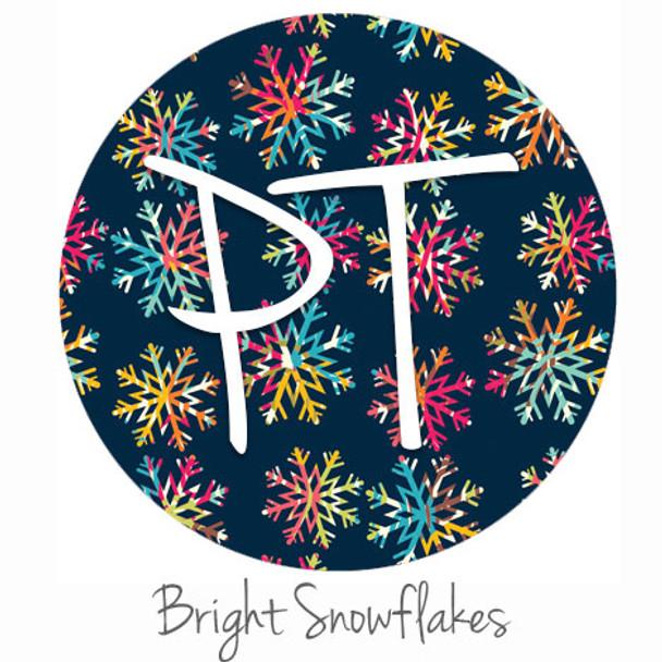 "12""x12"" Patterned Heat Transfer Vinyl - Bright Snowflakes"