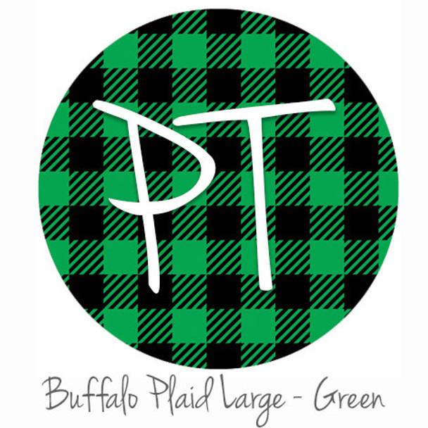 "12""x12"" Permanent Patterned Vinyl - Buffalo Plaid Large - Green"